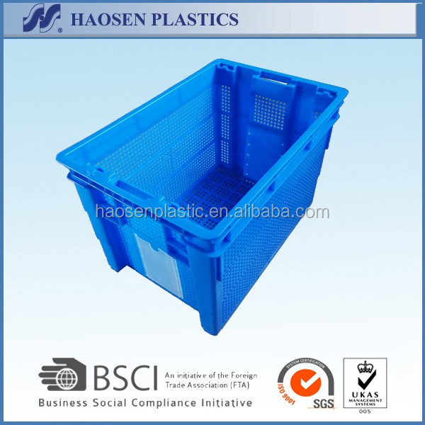 Plastic mesh crate for industrial storage PP material