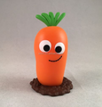 Design Your Own Roto Casting Carrot shaped Vinyl Toys/Wholesale Vegetable plastic Toys Doll/Designer PVC vinyl toys factory