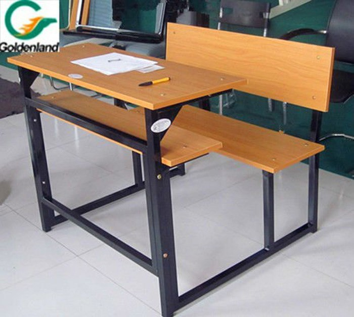 Wood And Mental Connective Double School Desk And Chair Buy Double School D