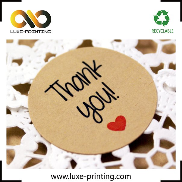 High quality thank you circle sticker for envelope seal