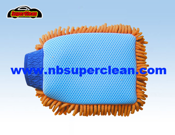 2016 New design hot selling unique car chenille wash mitt