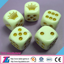 High quality plastic laser engraved dice
