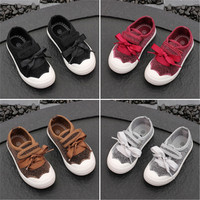 New style glitter upper kids canvas shoes soft soled boys and girls casual shoes