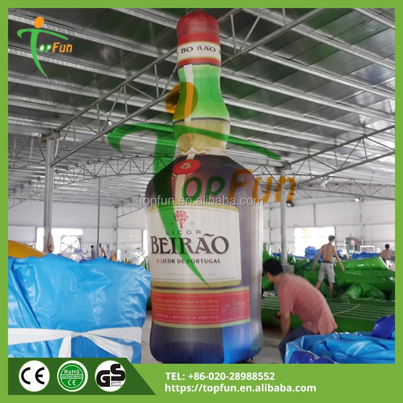 advertising inflatable wine alcohol bottle model