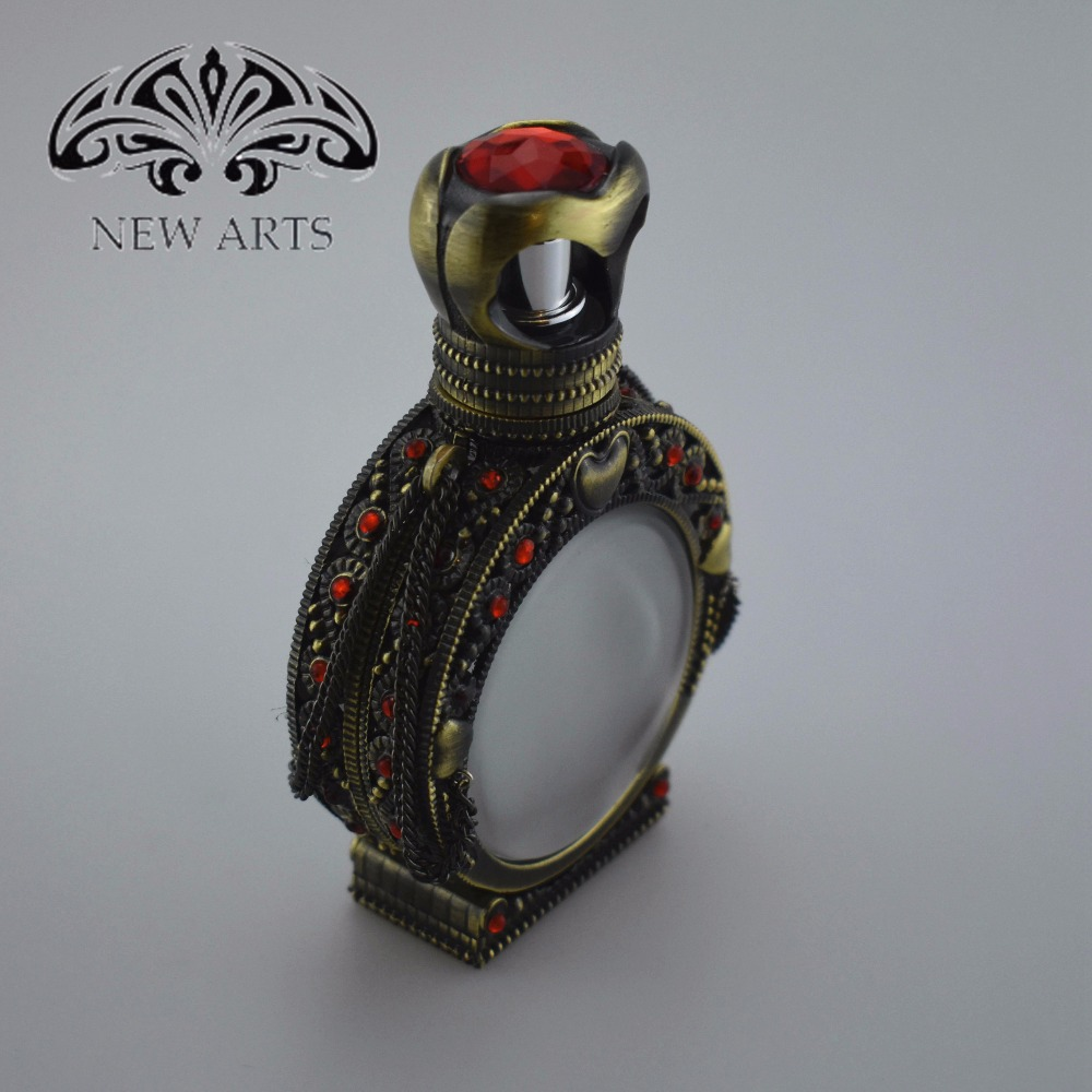 Hot new product well decorated arabian style antique perfume bottle for perfume oil