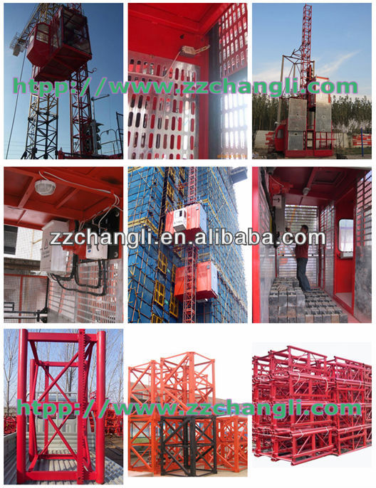 CE,GOST Approved !!! Safety&Reliable Performance Construction Elevator SC 100 (1Ton) , single cage sc100 building lifts