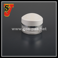 50ml Skin care use transparent eye acrylic cosmetic jar