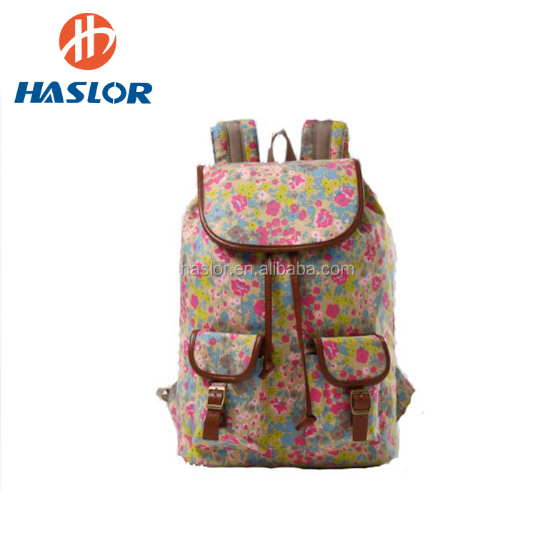 New Backpack 2017 Fashion Design Canvas Backpack for Teen Girls School Backpack