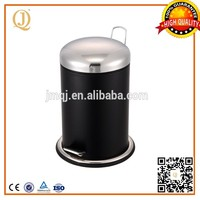 China 12L silver black recycling garbage containers used containers