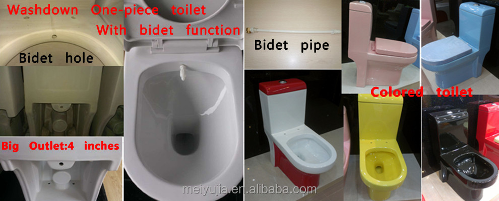 middle east S-trap sanitary ware colored toilet bowl bathroom from china factory