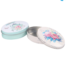 Packaging Metal Tin Box Fashion Round Flower Box For Dried Flower