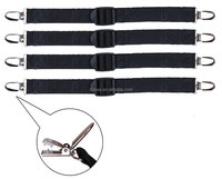 Shirt Stays Shirt Holders Sock Garter with Locking Clamps-Black 4pcs/1 pair Straight,Y,Stirrup(Footloop) Style