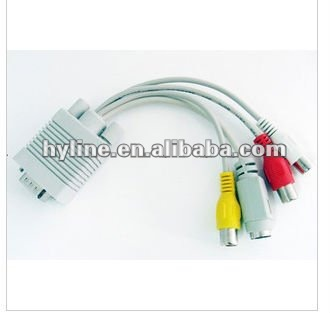 vga to svideo and 3rac cable, vga/ svga a/v cable