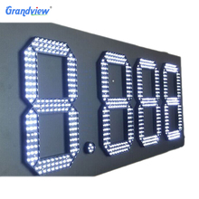 Outdoor Digital/time/temperature gas station LED petrol price sign display board