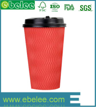 custom design hot drink paper coffee cups