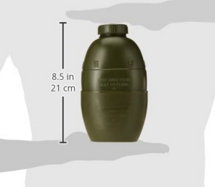 plastic 1 Litre British Army Plastic Water Bottle with Cup, 58 Pattern Military 1L Water Canteen with bowl