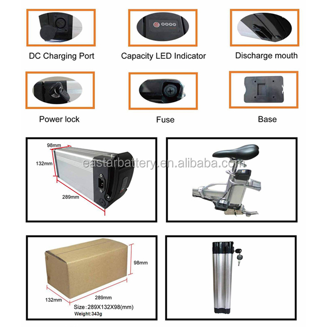 rechargeable lithium battery pack 48v 10a electric bike battery for sale