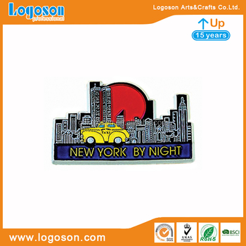 Factory Design New York By Night Rubber Magnet for Fridge Souvnenir Replica Handmade Sublimation Magnets