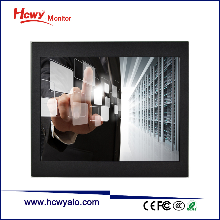 "Professional RS232/USB Touch 7"" 8"" Open Frame Touch Screen Monitor For Vending Machine"