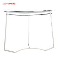 Floor Standing Curve Rail Shopping Mall T-Shirt Display Rack Clothes Display Stand
