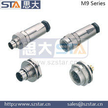 direct frequency close cable plug, waterproof connector M9 connector