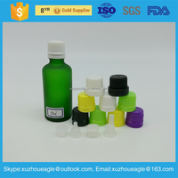 Customized 5ml,10ml,15ml,20ml,25ml,30ml,50ml,green glass essential oil bottle for cosmetic perfume and glass dropper bottles