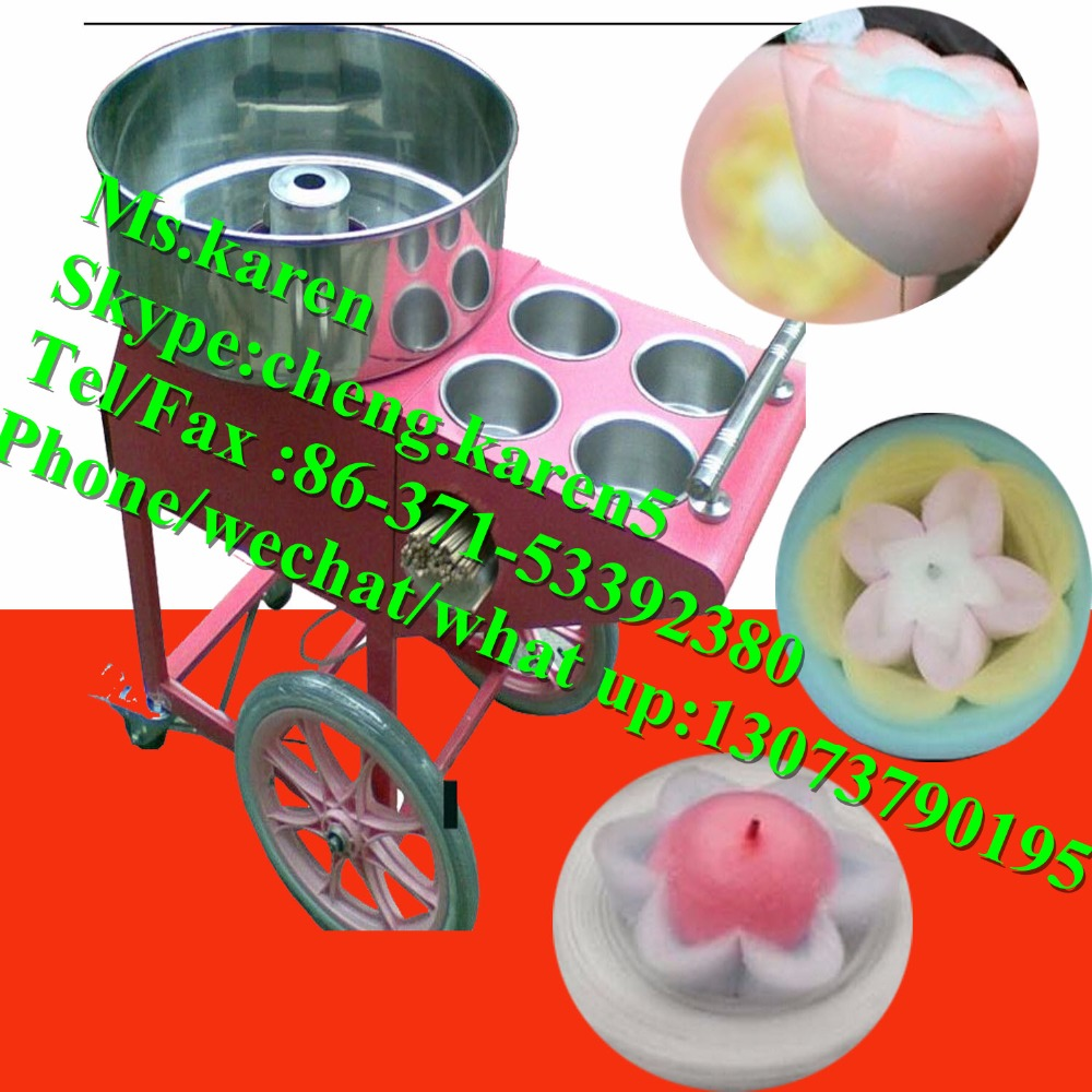 Cotton candy floss machine /Commercial electric flower cotton candy machine
