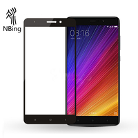2.5D 9H Anti Fingerprint Silk Print Film Tempered Glass Screen protector for Xiaomi 6 Mi 5S/Mi 5S Plus