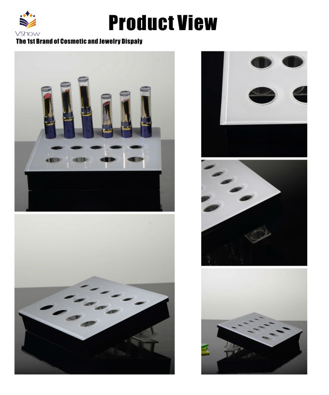 wholesale professional acrylic cosmetic makeup brush display stand