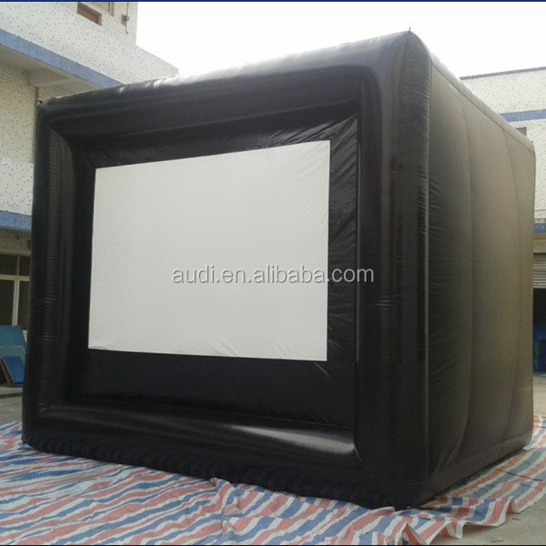 outdoor movie projector screen/inflatable projection tv