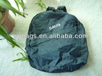 Custom folding nylon raincoat