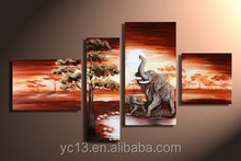 High quality direct factory home decor african landscape art work painting