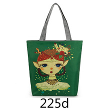 hot canvas handbag import wholesale big shoulder bag girls england style women makeup bag