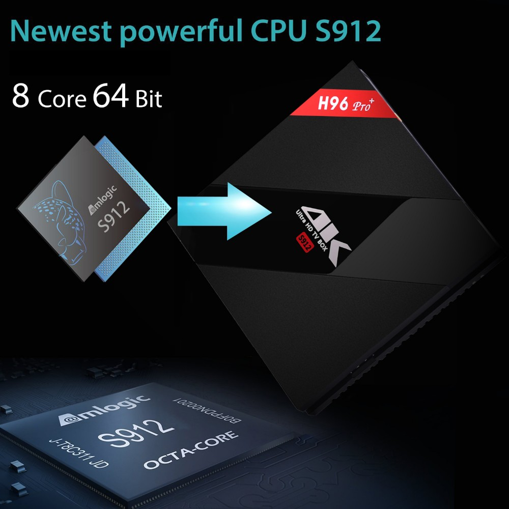 H96 pro plus S912 Android 6.0 Octa core S912 3GB 32GB tv box H.265,4K full loading H96 pro+ S912 tv box