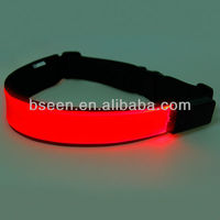 High quality LED sport belt with red lights
