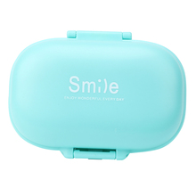 2018 new design weekly plastic mini pill box storage organizer case box for travel