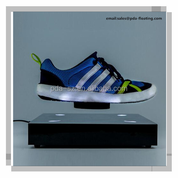 Acrylic Magnetic Levitation Shoes Display Stand, Magnetic Rotating Shoe Display