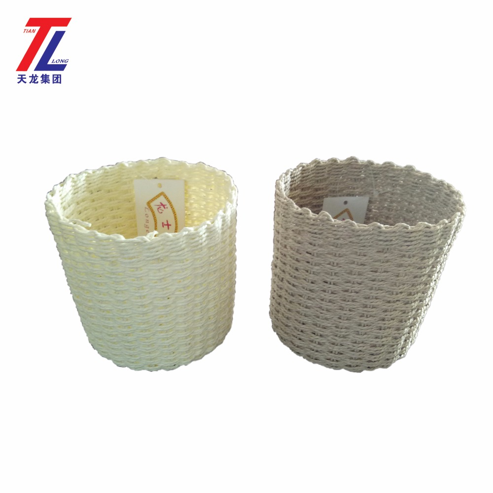 flower basket cheap wholesale paper rope handmade weaving decorated flower girl baskets