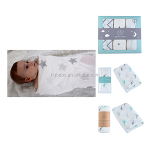 The hottest fancy fabric 100%cotton swaddle blankets muslin with your brand logo