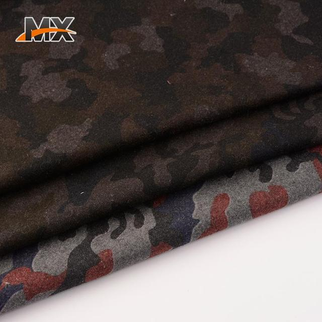 Professional cheap different camouflage design comfortable wool wholesale tweed fabric