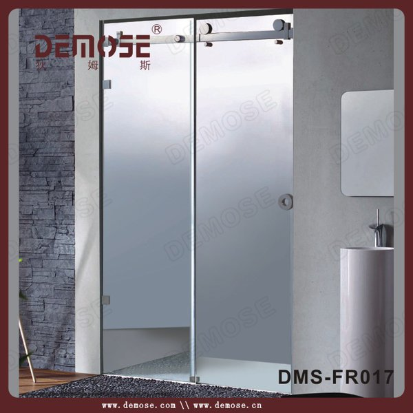 garden luxury steam shower room | shower screen with frosted glass