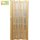 PVC Woodfold Accordion Doors With Glass