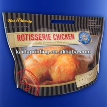grill bag for hot roast chicken plastic bags with zipper ,anti-fogging bag
