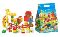 happy and fun wild animal ABS 60pcs lighted building blocks with EN71