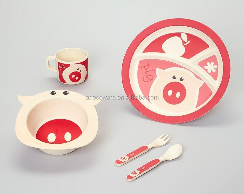Eco Friendly Kids Dinnerware Set Pig Design View Eco & Pig Dinnerware Sets - Castrophotos