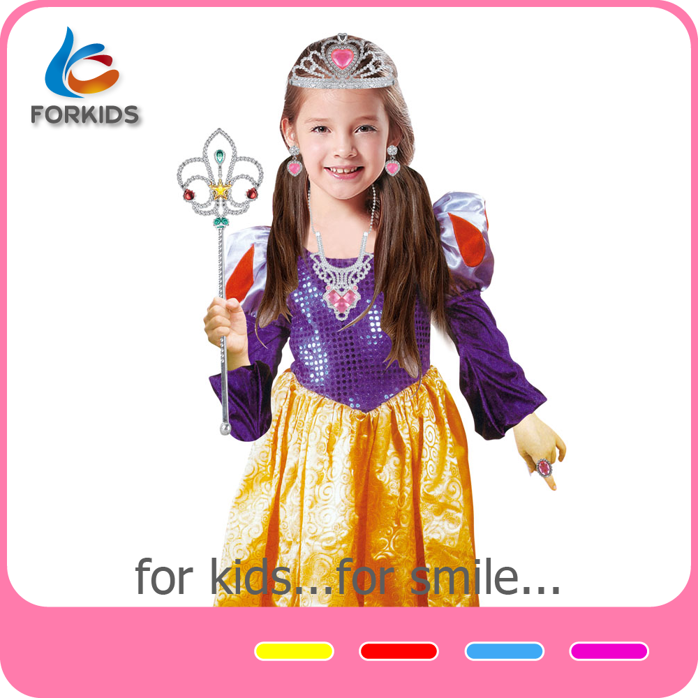 Wholesale in stock princess frozen anna fancy dress cosplay halloween costumes for girls
