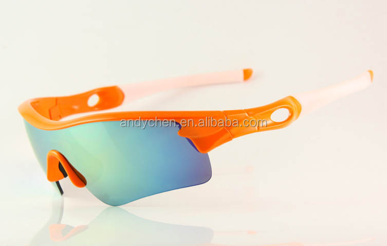 Sports Brand Sunglass Men's/Women's oakey Radar Orange Sunglass Fire Iridium Polarized