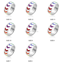 Latest Hot Sale Jewelry Fashion Glowing Gay Boy Rotating Ring