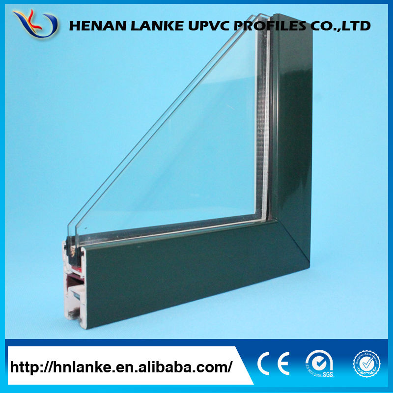 China superior casement upvc windows sections