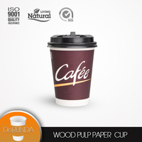 Hot selling food grade logo printed sigle wall 8oz 245ml disposable paper coffee/tea cup price